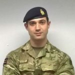A picture of Lieutenant Adam L M Young RAVC in his uniform.