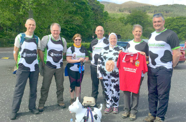 Chief Veterinary Officers pictured with members from the Send a Cow support team.