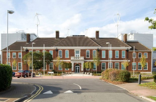 Photo of the front of the modern day APHA building in Weybridge