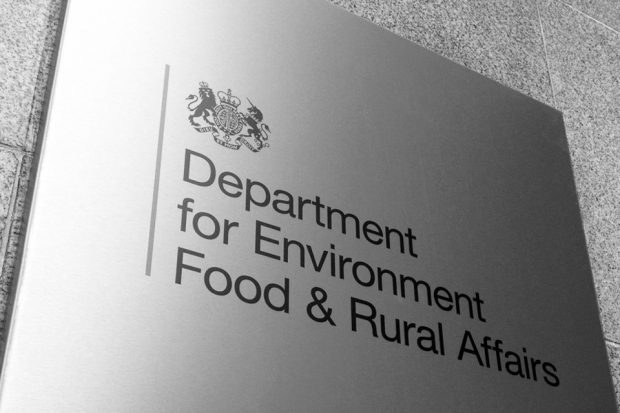Defra sign on a building