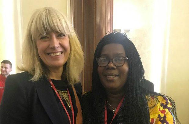 Christine standing next to Joyce Dontwi
