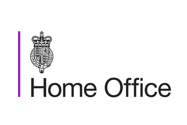 Home Office logo featuring the Home Office Emblem and a purple line