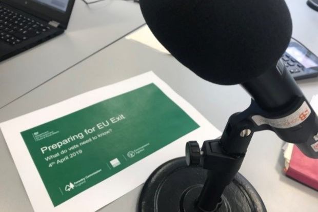 A page saying 'preparing for EU exit' next to a microphone and laptop