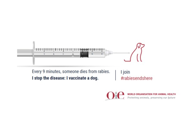 OIE logo promoting vaccinations