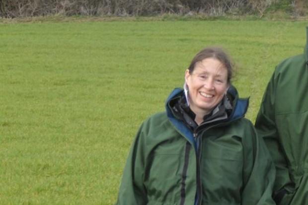 Jo standing in a field