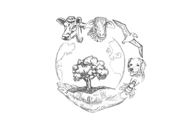 The VPHA logo featuring a cow, sheep, sea gull, dog and tree